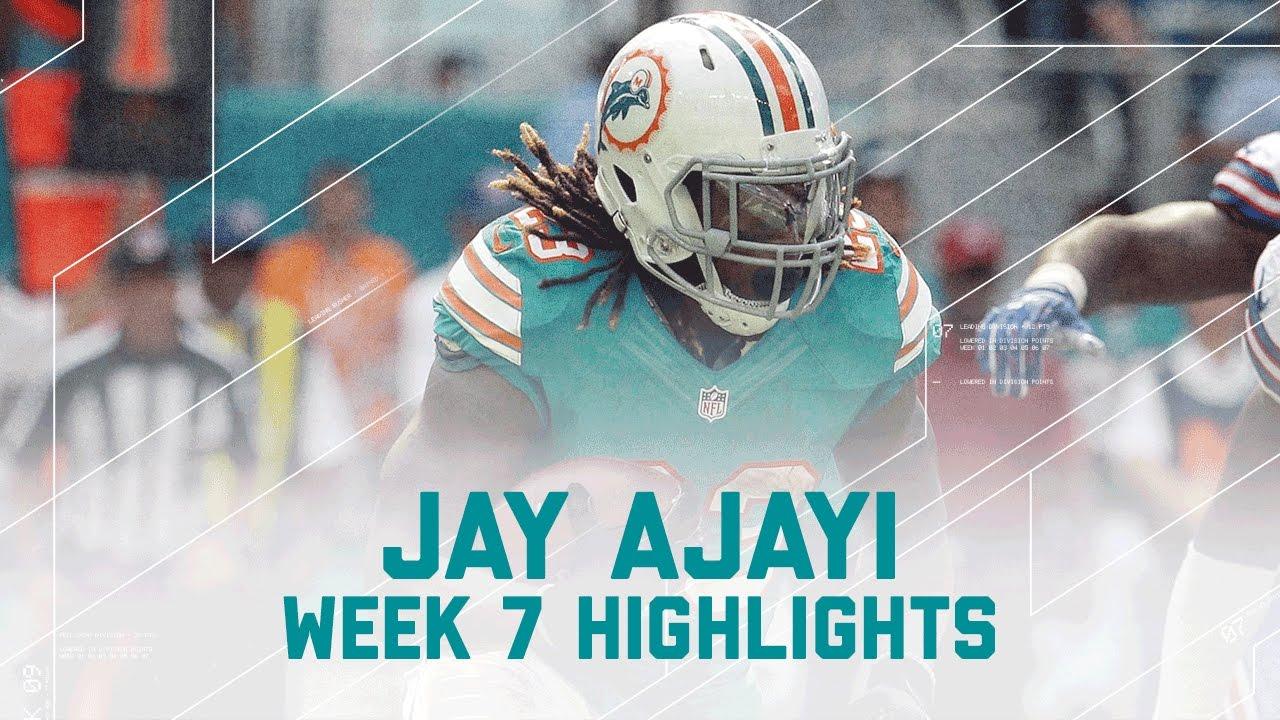 Jay Ajayi Rushes for 214 Yards Bills vs Dolphins