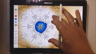 Caraboutcha, adults coloring book app - tutorial