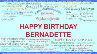Bernadette   Languages Idiomas - Happy Birthday