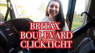 BRITAX BOULEVARD CLICKTIGHT | My favorite features + how to install carseat