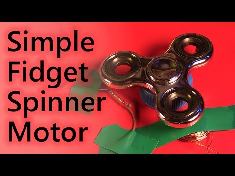 How to turn a fidget spinner into a simple electric motor tutorial - Ask a Scientist Show 1.7