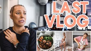 LAST VLOG?! Day In The Life | BODY UPDATE | Healthy Dinner Recipe + WORKOUT!