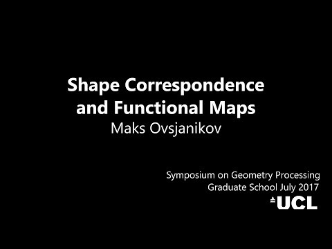 Shape Correspondence and Functional Maps