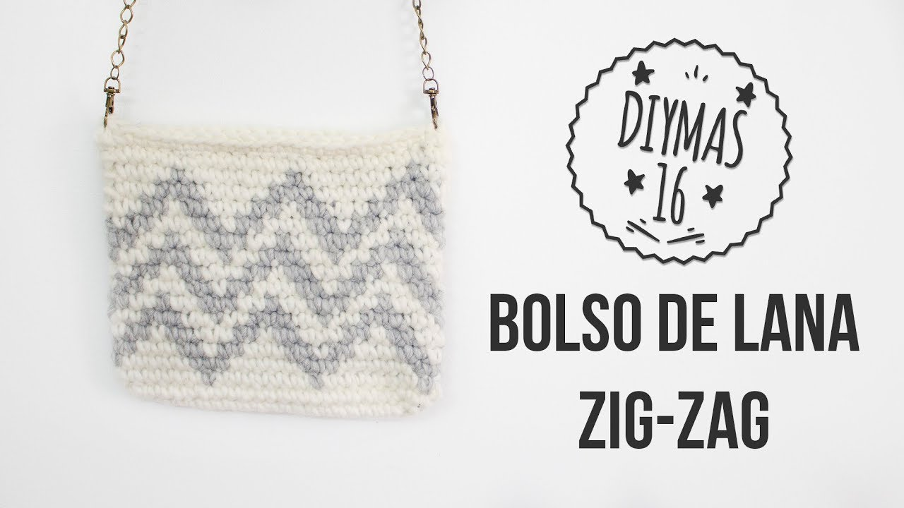 Bolso de lana a crochet - YouTube