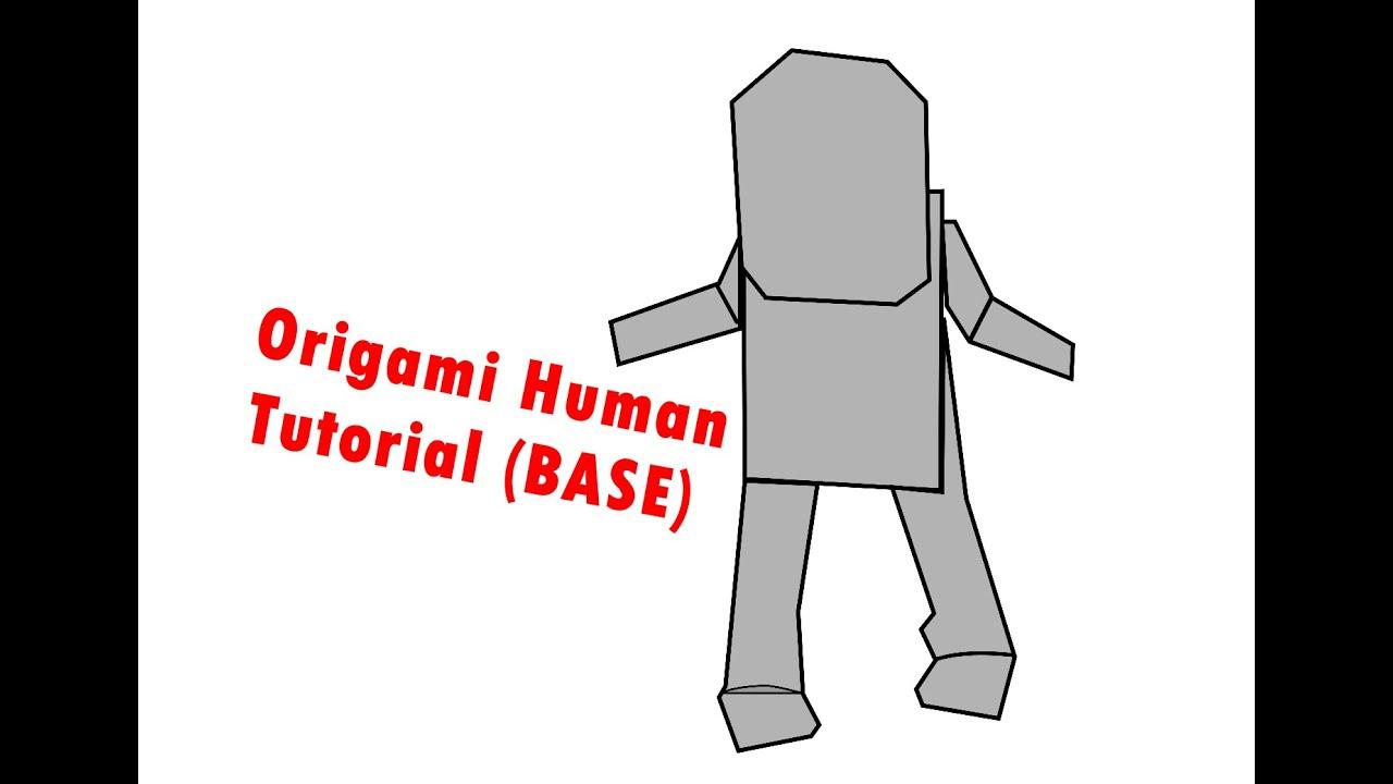 origami human base part 2 youtube