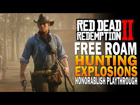 Free Roam, Horse Glitches, Hunting & More! Red Dead Redemption 2 Honorableish Gameplay [Xbox One X[ thumbnail
