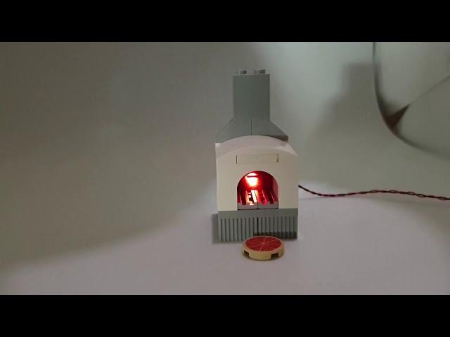 LEGO Pizzaofen mit flackernder LED
