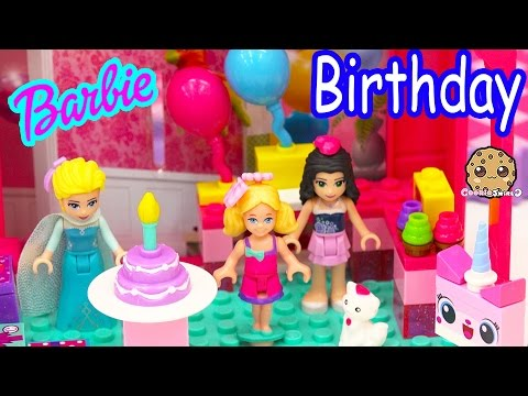 Chelsea's Birthday Party Fun Mini Barbie Doll Mega Bloks Playset With Lego Friends + Queen Elsa