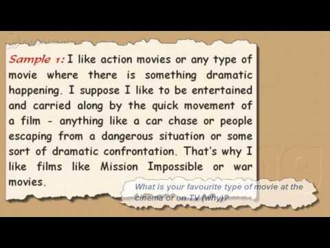 IELTS Speaking Models: 4 -- Favourite Movies