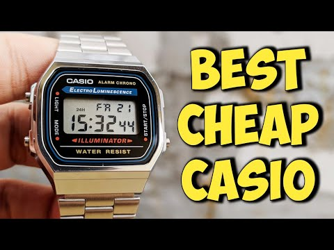 CASIO A168WA Stainless steel Retro - Unboxing Review Indonesia