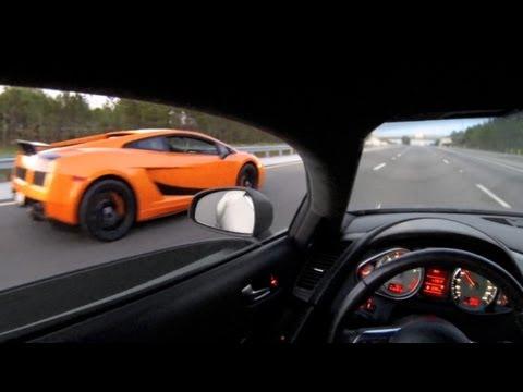 Audi R8 and Lamborghini Gallardo Superleggera Cruising Around!