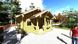 видео Бани из клееного бруса - проекты, схемы, цены, проект деревянной бани