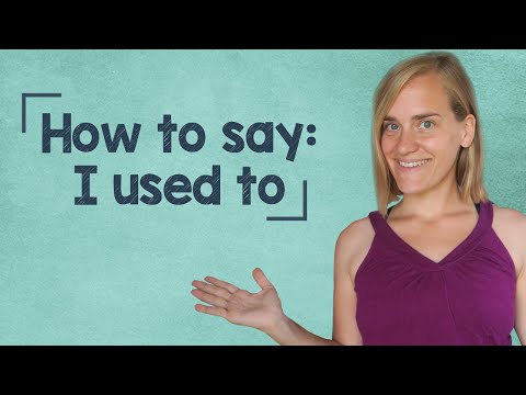 "German Lesson (153) - How to Say: ""I Used To..."" - A2/B1"