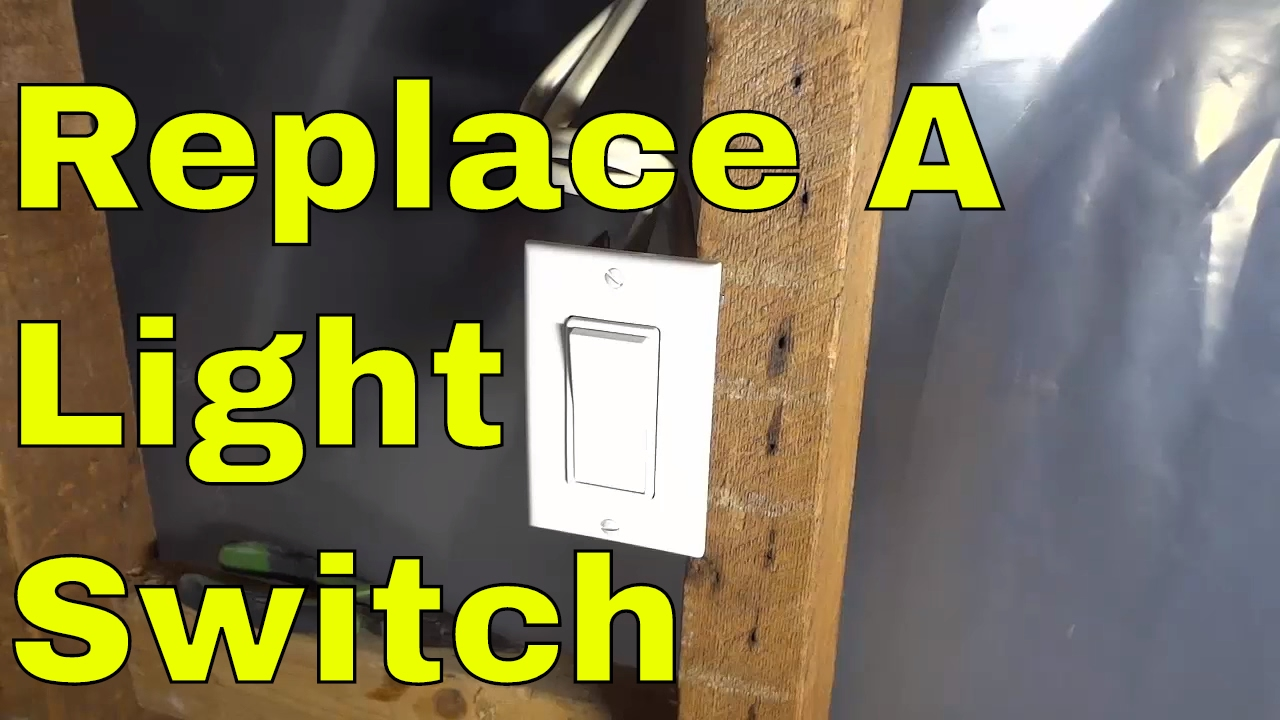 How To Replace A Light Switch-diy Electrical