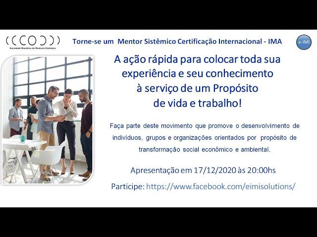 Certificação Internacional de Mentoria Sistêmica - SBMS  www.sbms.com.br