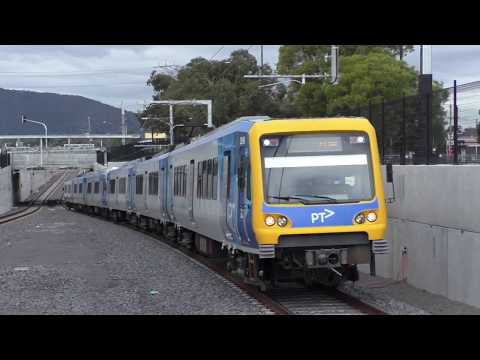 Trains at the new Bayswater station - Metro Trains Melbourne