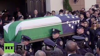USA: Police pay respects to slain NYPD officer Rafael Ramos