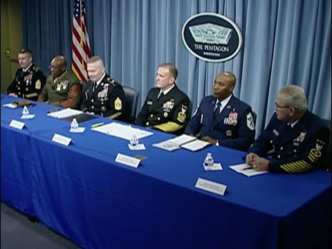 Enlisted Military Leaders' Press Conference at the Pentagon (Nov 2017)
