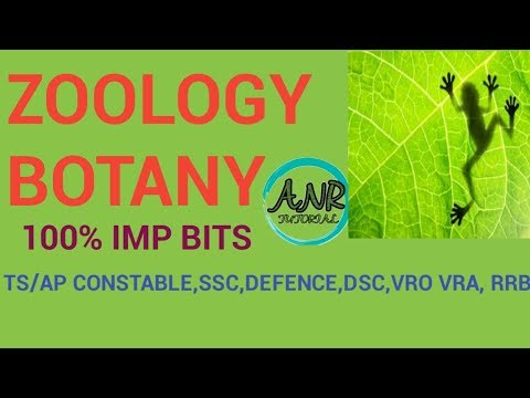 ZOOLOGY BOTANY  MOST IMP BITS/MOST IMP GENERAL AWARENESS BITS FOR ALL GOVT JOBS