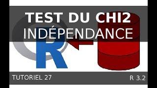 Tutoriel 27 R - Test du Chi2 - Indépendance deux variables