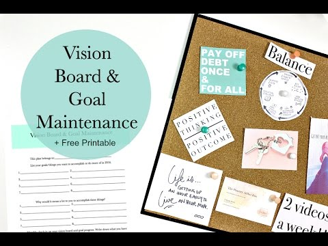 Vision Board & Goal Maintenance + Free Printable