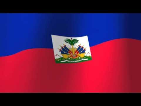 Flag of Haiti - Drapeau de Haïti - L