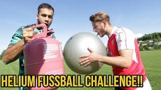 Extreme helium fussball challenge + heftige bestrafung!!