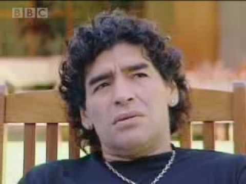 Diego Maradona discusses  'Hand of God' World Cup goal - BBC