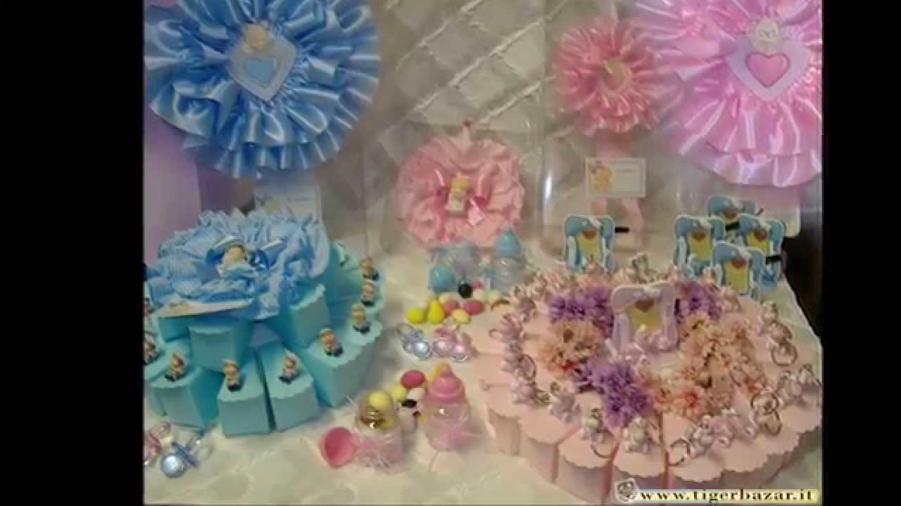 Torte bomboniere con confetti di nascita e Battesimo alla