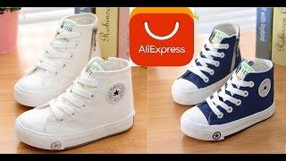 Посылка из китая с AliExpress / Детские высокие кроссовки / распаковка и обзор / Unboxing and Review