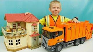Машины БРУДЕР и Белочки Сильваниан - Интересное видео для детей с машинками. BRUDER Toys(Даник и машинки это всегда весело и интересно, а если это ещё и машинки Bruder (Брудер) - то это вообще просто..., 2016-06-29T13:25:18.000Z)