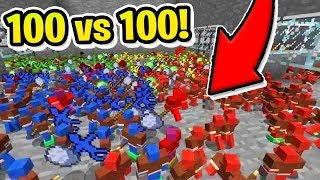 100 vs 100 CLAY SOLDIER MODDED BATTLE! w/BajanCanadian AND JeromeASF