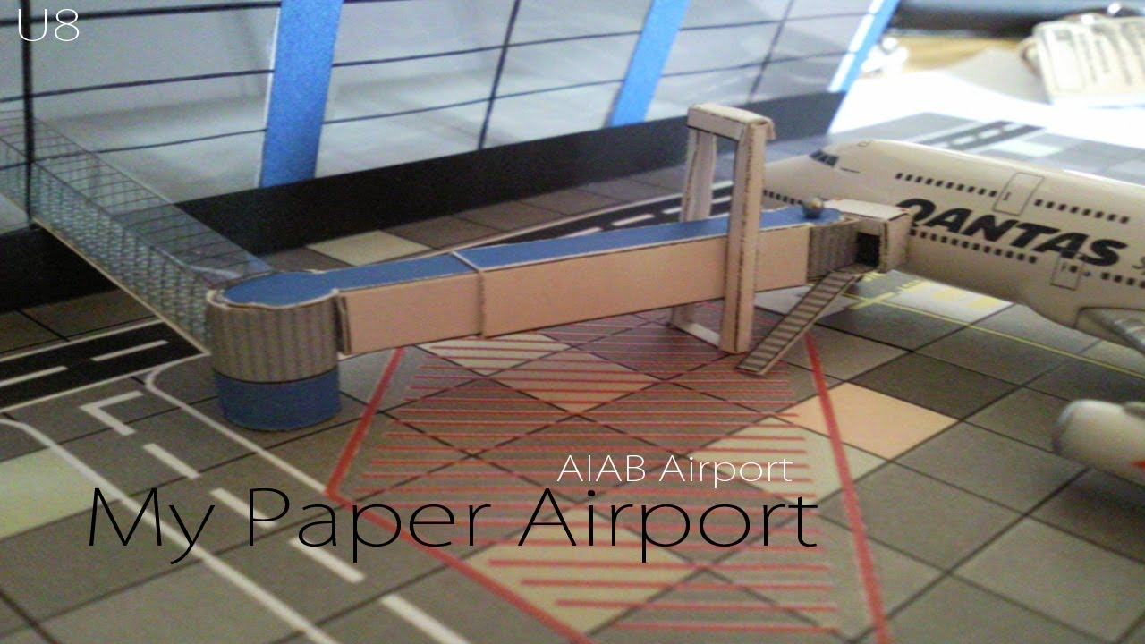 airport terminal paper model Airport on layout posted by bone on sunday or reading the paper so i think if you gonna model airport near your trains.