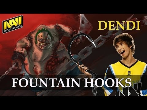 Na`Vi.Dendi Pudge fountain hooks vs Tongfu @ TI3 DotA 2 gameplay