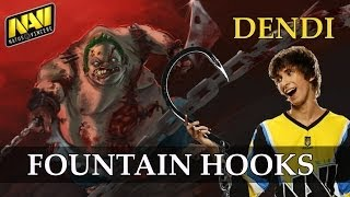 Na`vi.dendi Pudge Fountain Hooks Vs Tongfu @ Ti3 Dota 2 Gameplay