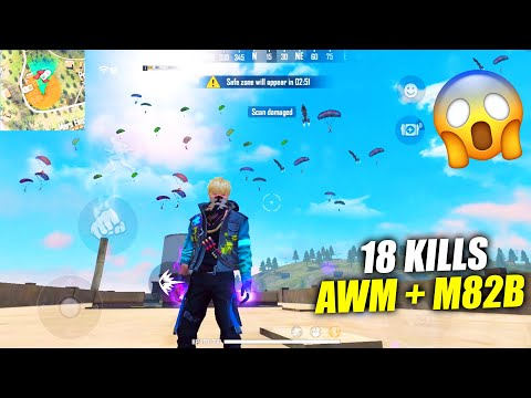 Playing Free Fire With 2 AWM Like Ajjubhai Sniper King | Garena Free Fire King Of Factory PK GAMERS