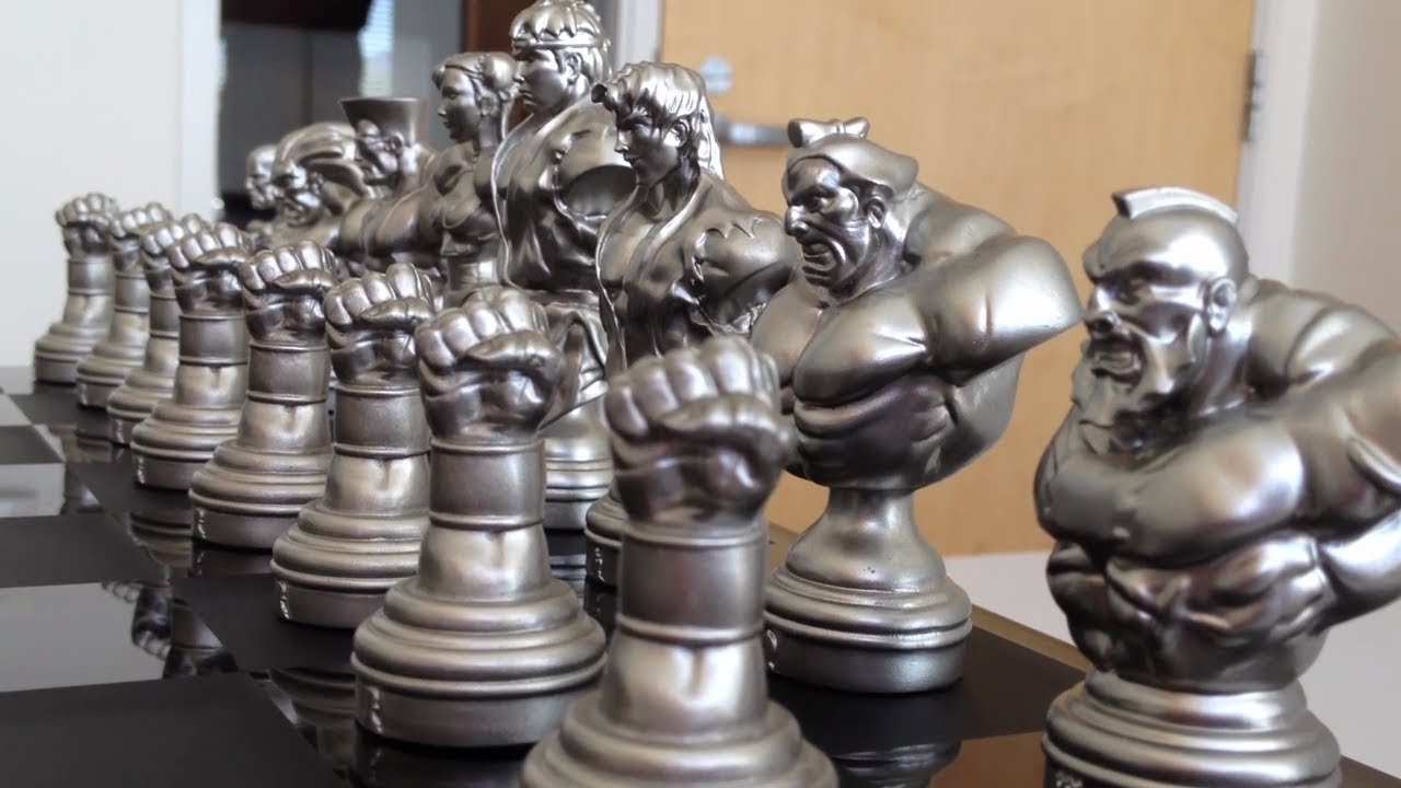 Street Fighter 25th Anniversary Chess Set Unboxing YouTube