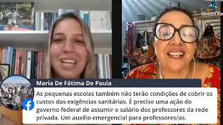 #Live_da_Larissa Volta às aulas com Coronavírus? Não responda essa chamada