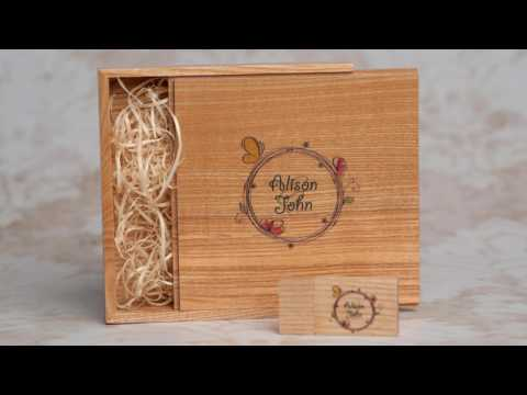 Premium Wood USB Flash Drives for Photographers