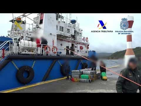 Desarticulada una organización que introducía cocaína desde Sudamérica en cargueros transoceánicos