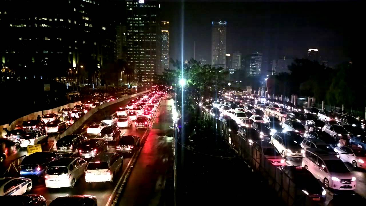 traffic at night by - photo #45