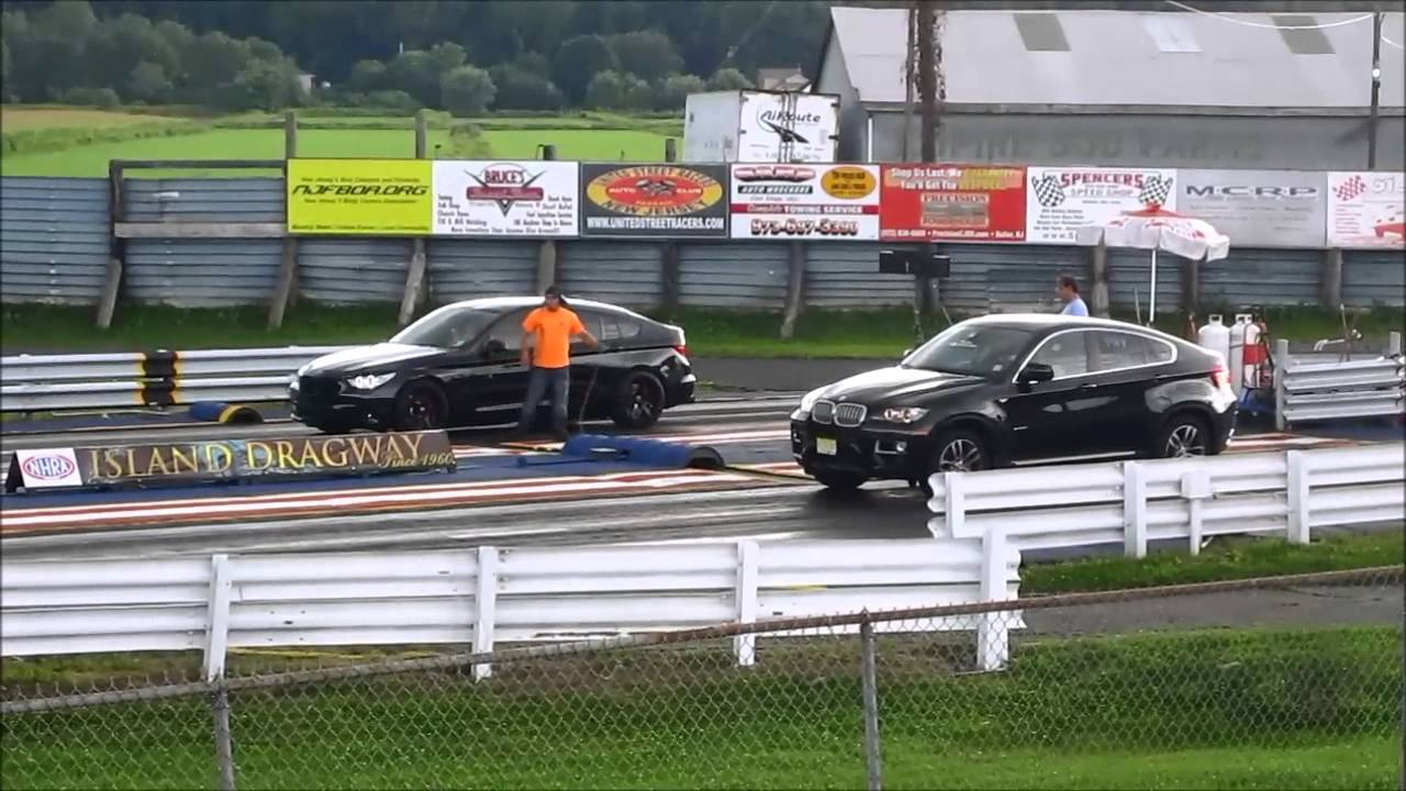 Bmw X6 50i Vs Bmw 550 Gran Turismo Drag Racing Youtube