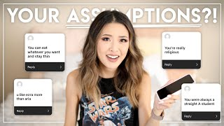 REACTING TO YOUR ASSUMPTIONS ABOUT ME! | Skinny, Religious, Popular, Good Student?