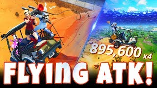 Insane Flying ATK Stunts in Fortnite Battle Royale! *ATK HALFPIPE* ATK Grappling Hook Gun Glitch!
