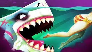 Zombie MEGALODON Shark Attack - Hungry Shark World Halloween New Update!