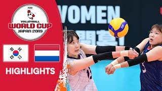 KOREA vs. NETHERLANDS - Highlights | Women