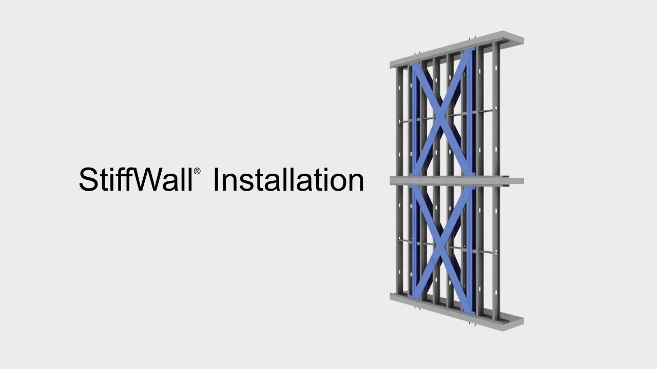 Stiffwall X Braced Shear Wall Installation Light Steel Framing Youtube