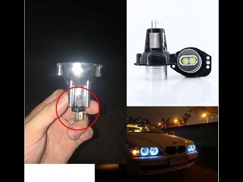 Upgrade BMW E90 E91 3 Series Halo Ring Headlight Angel Eyes Light White Bulb Installation Error Free