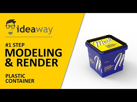 Plastic Container Modeling & Render