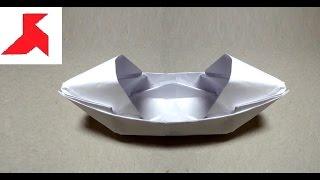 Как сделать оригами БАЙДАРКУ из бумаги А4 своими руками?